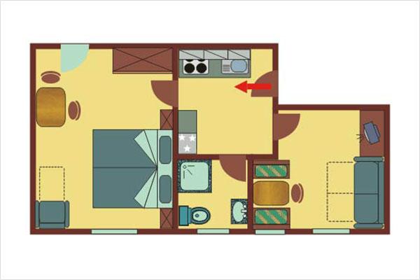ferienwohnungen f r 2 4 bzw 6 8 personen haus pedross. Black Bedroom Furniture Sets. Home Design Ideas